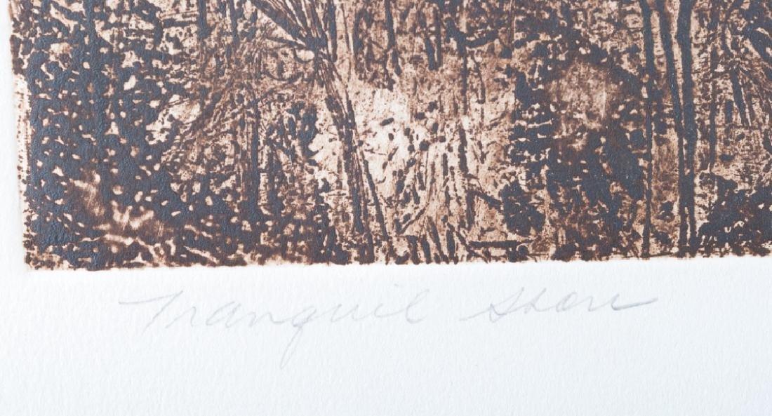"""Ann DerGara """"Tranquil Shores"""" Signed Etching - 3"""