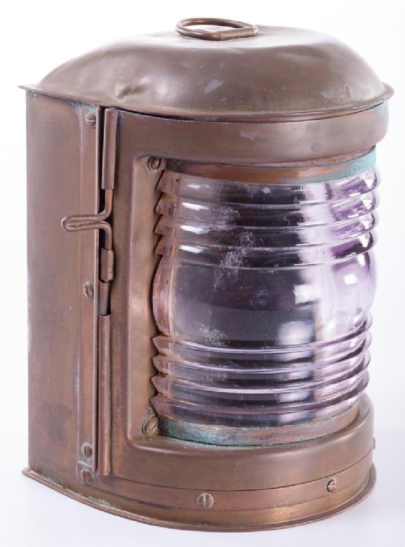 """Perko"" Perkins Vintage Brass Ship Lantern"