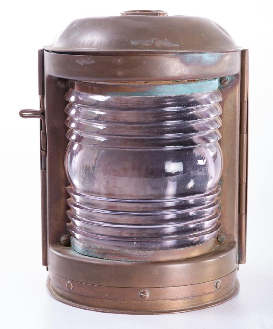 """Perko"" Perkins Vintage Brass Ship Lantern - 2"