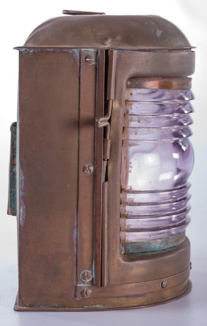 """Perko"" Perkins Vintage Brass Ship Lantern - 5"