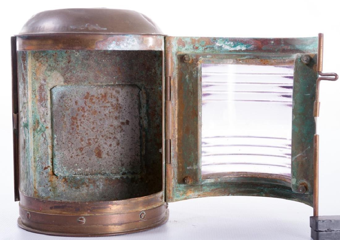 """Perko"" Perkins Vintage Brass Ship Lantern - 6"