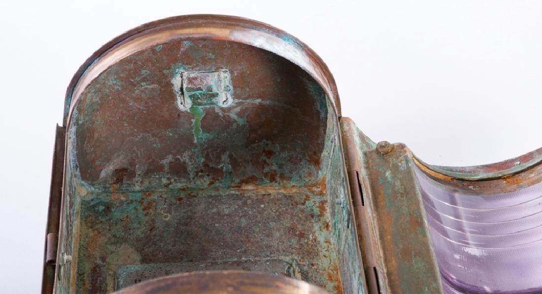 """Perko"" Perkins Vintage Brass Ship Lantern - 7"