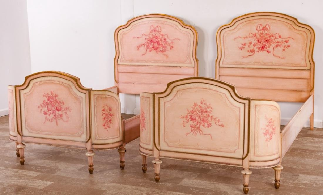Marcel Tartaglia Louis XVI Style Twin Bed Pair - 4