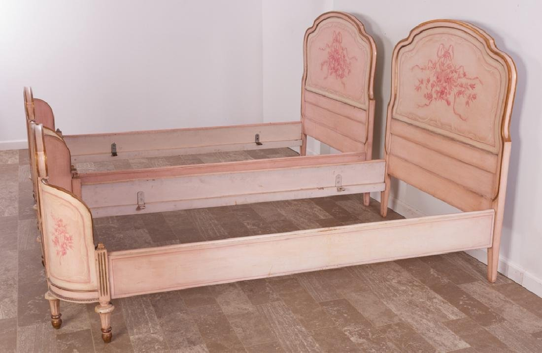 Marcel Tartaglia Louis XVI Style Twin Bed Pair - 7