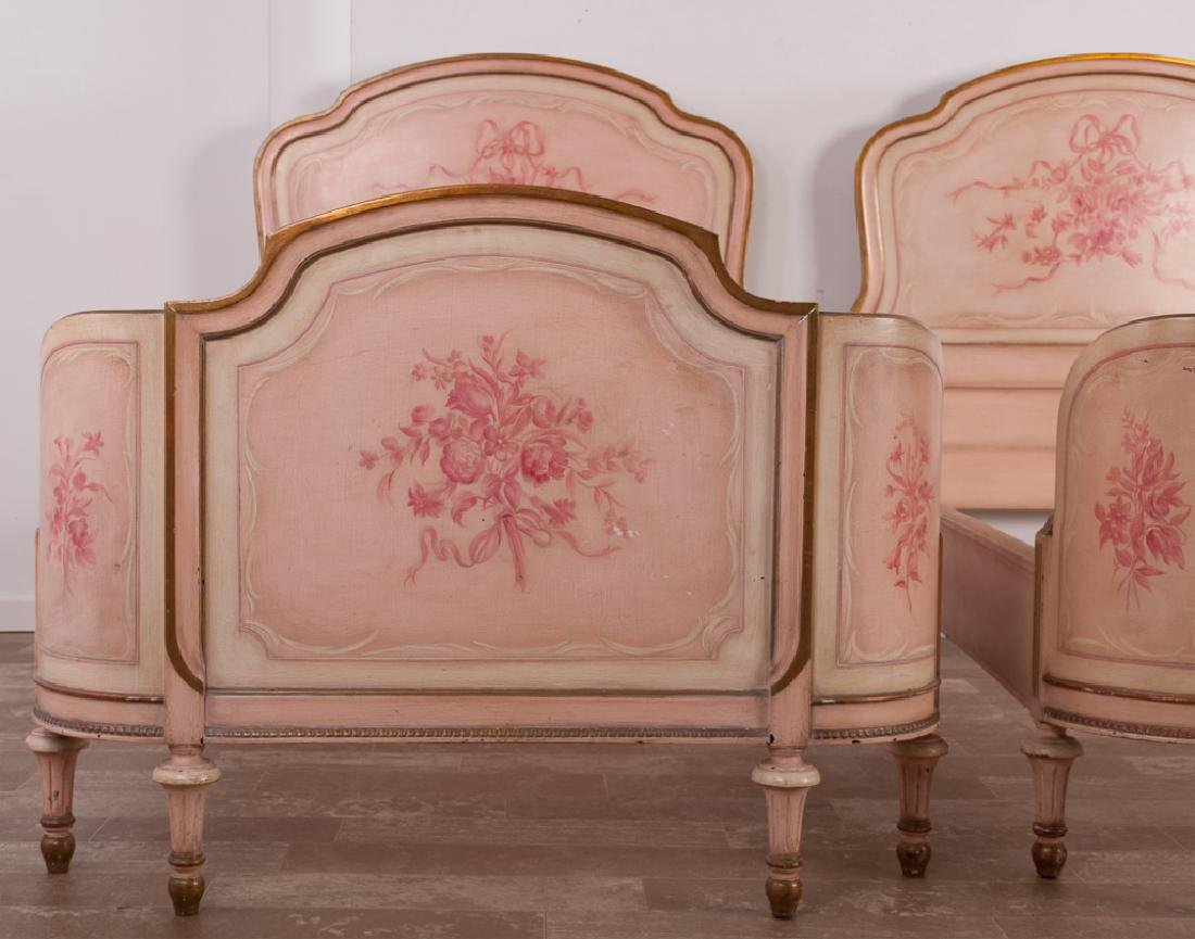 Marcel Tartaglia Louis XVI Style Twin Bed Pair - 9