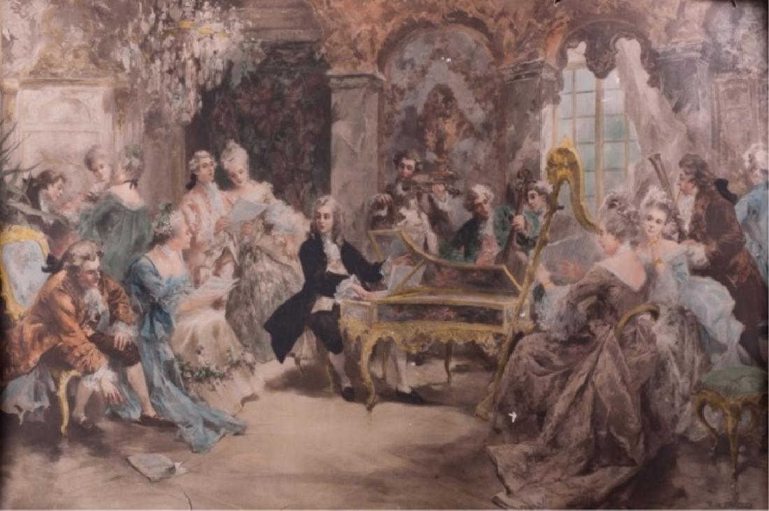 """Vincente De Paredes """"The Recital"""" C. 1890s"""