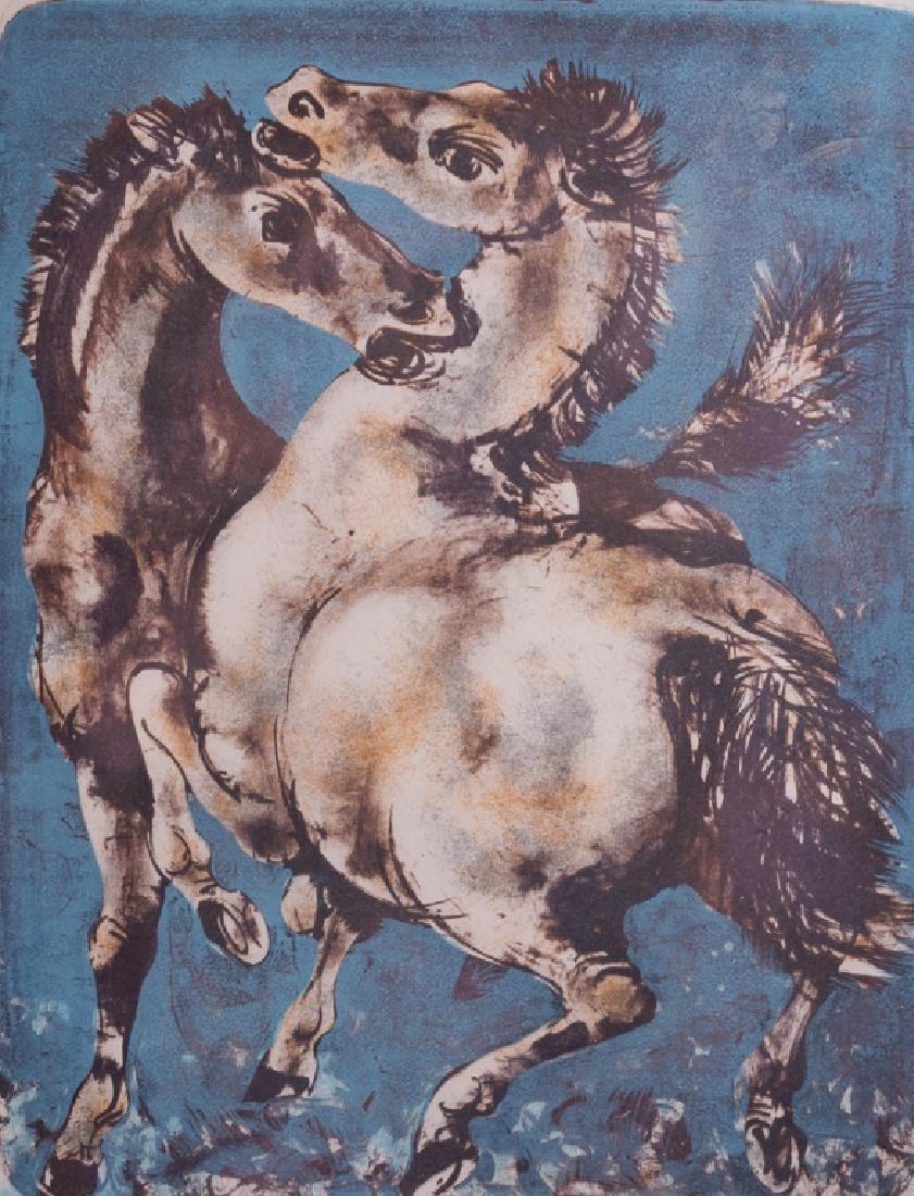 """Hans Erni """"Solomon's Horses"""" Signed Lithograph"""
