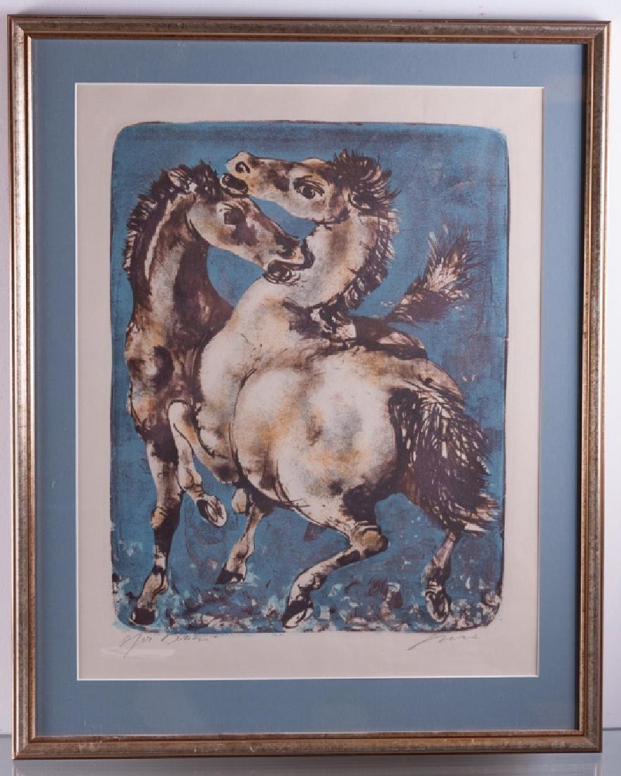 """Hans Erni """"Solomon's Horses"""" Signed Lithograph - 2"""