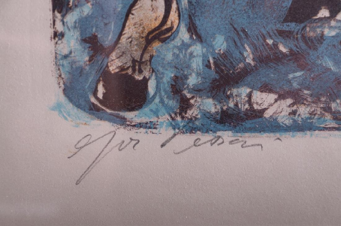 """Hans Erni """"Solomon's Horses"""" Signed Lithograph - 3"""