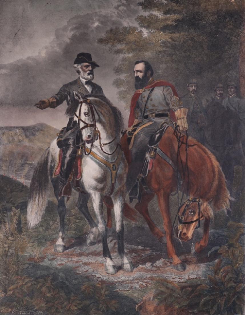 "E.B.D. Julio ""The Last Meeting"" Civil War Print"