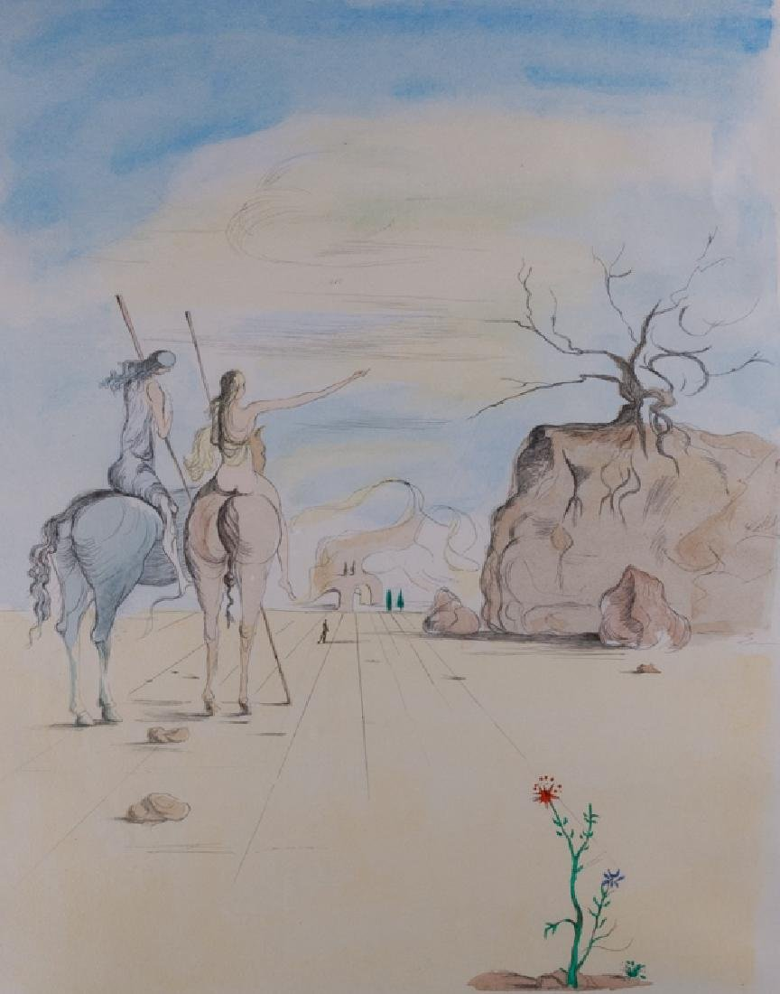 "Salvador Dali ""Amazon Women on Horses"" Etching"