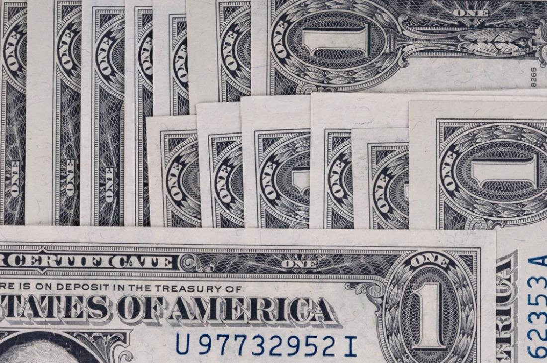 Uncirculated U.S. $1 Silver Certificates