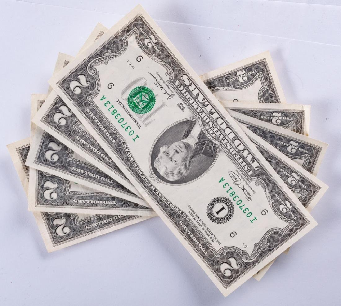Uncirculated U.S. $2 Bills Collection