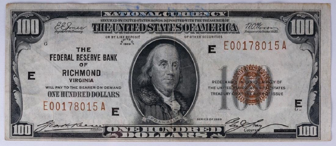 Series 1929, U.S. $100 National Currency