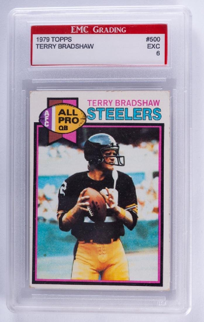 1979 Topps Terry Bradshaw Football Card (Graded)