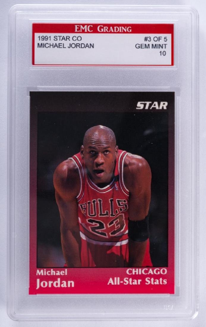1991 Star Co. Michael Jordan Basketball Card