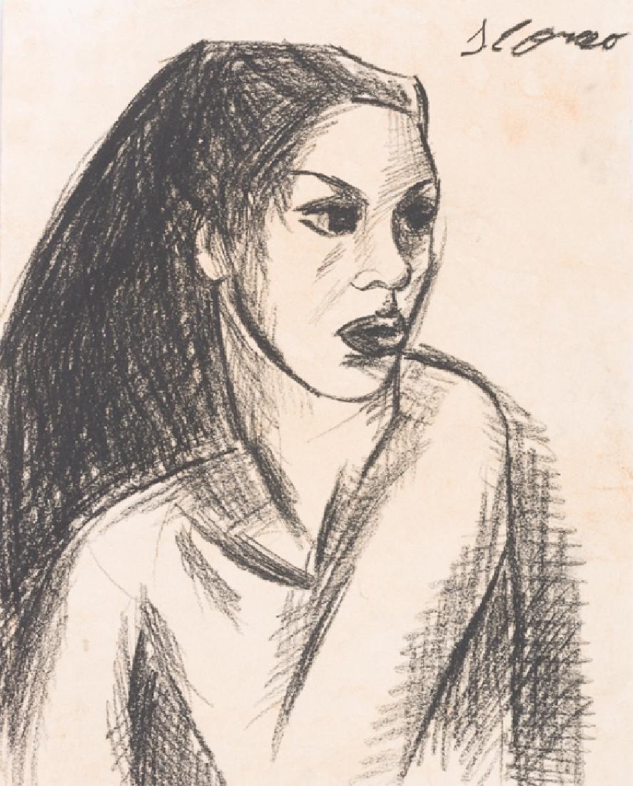Jose Clemente Orozco Portrait Drawing