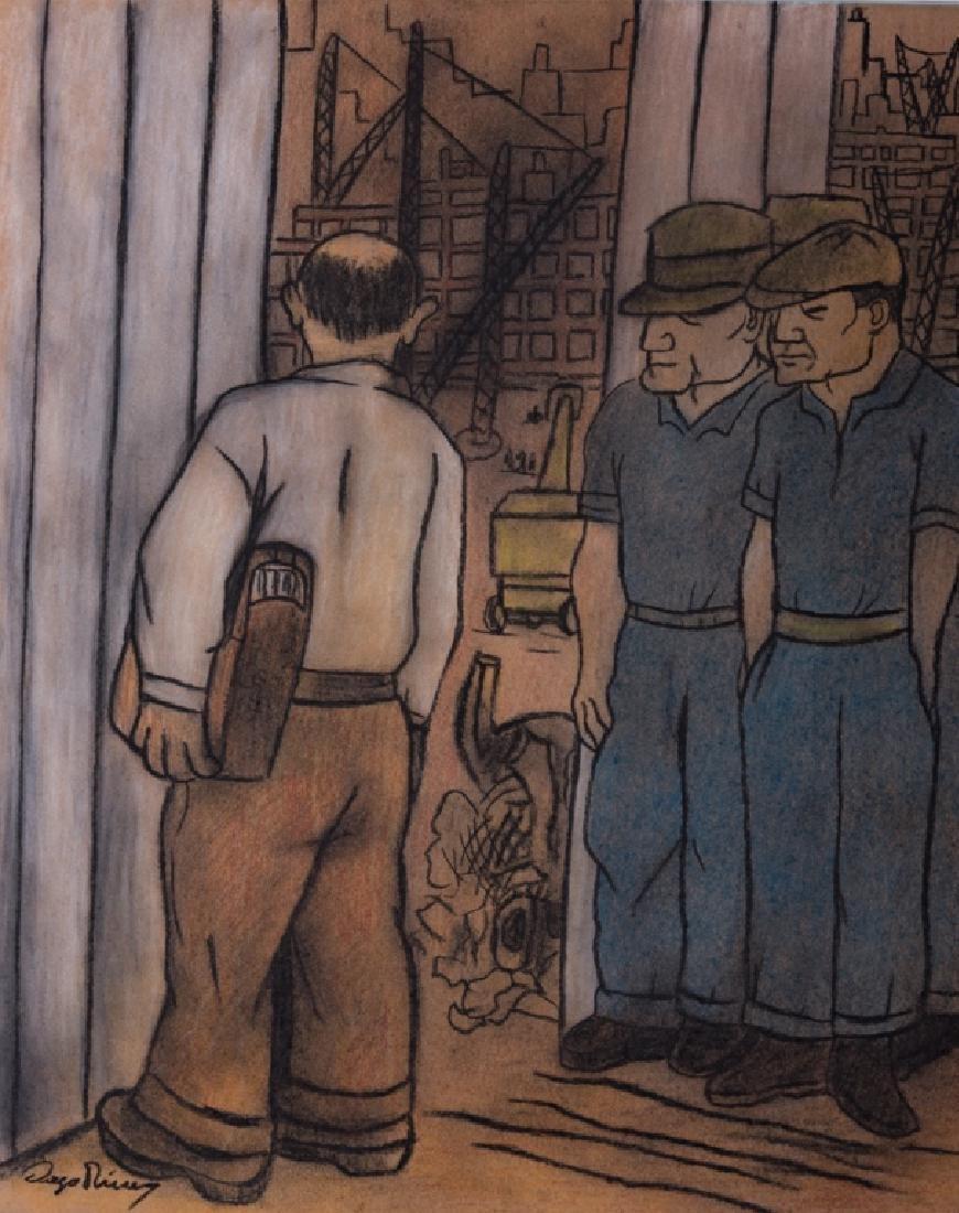 "Diego Rivera ""The Making of a Fresco..."" Study"