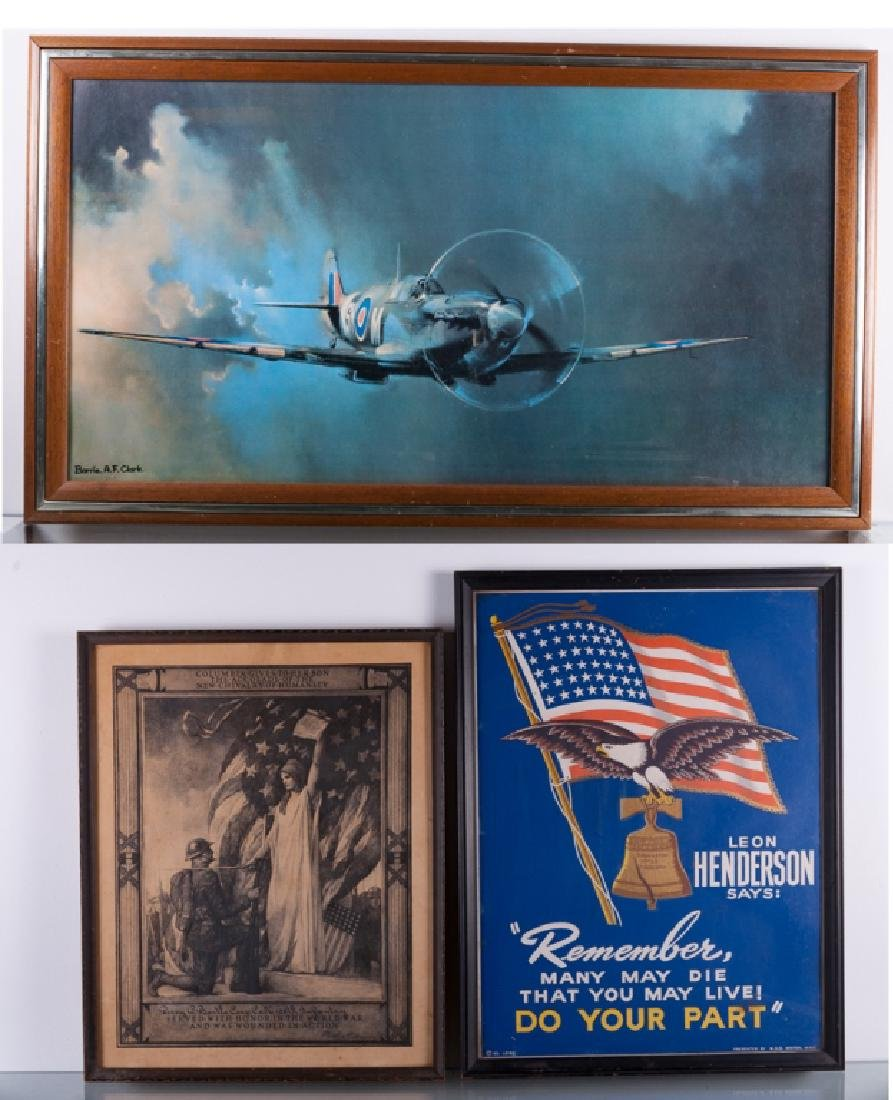 """Barrie A.F. Clarke """"Spitfire"""" Print & Posters Trio"""