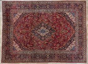 """Persian Kashan 9'10"""" X 13'3"""" Rug"""