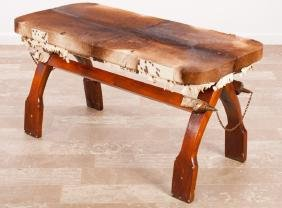 Cowhide Covered Bench / Table