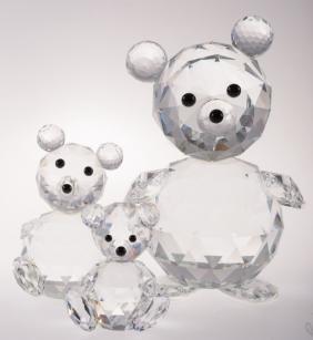 Swarovski Crystal Bears Trio