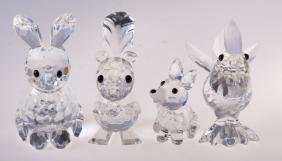 Swarovski Crystal Rabbit, Squirrel, Fox & Rooster