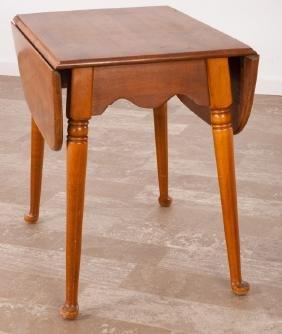 Ethan Allen Maple Birch Drop Leaf Pembroke Table