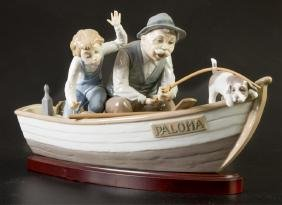 """Lladro """"Fishing with Gramps†#5215 Figure"""
