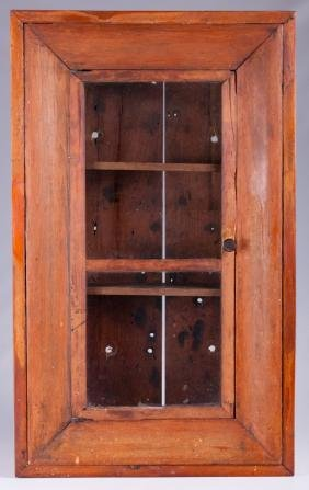 Ogee Clock Case, Wall Mount Cabinet