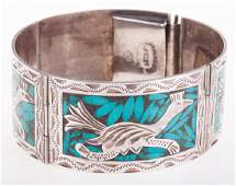 Sterling & Turquoise Mexican Bracelet