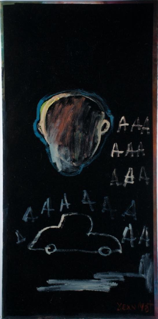 Jean-Michel Basquiat Oil On Canvas