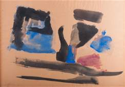 Abstract Watercolor Signed & Dated 1960
