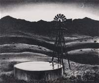 """Peter Hurd """"The Water Tank"""" Lithograph 1936"""