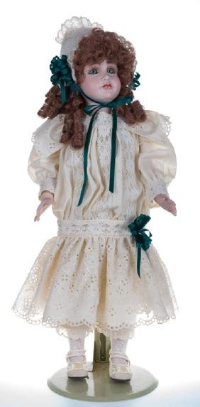 """Vintage """"Elise"""" Doll, Signed & With Stand"""
