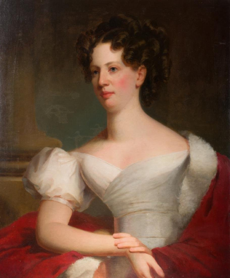 Attributed to Thomas Sully Portrait Oil on Canvas