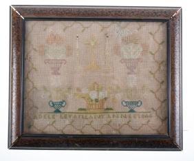 Cross Stitch Sampler, Mid-19th Century