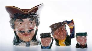 Royal Doulton Toby Jugs Group of Four (4)