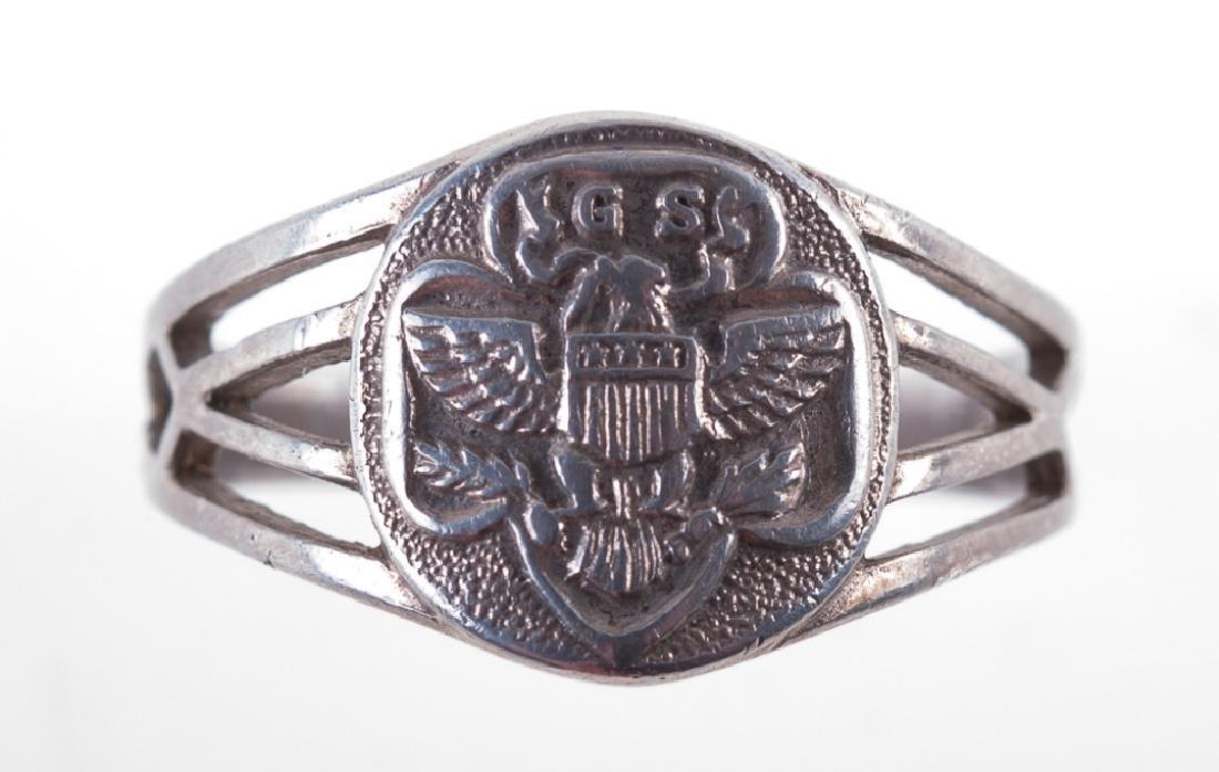 Vintage Sterling Girl Scout Eagle Logo Ring