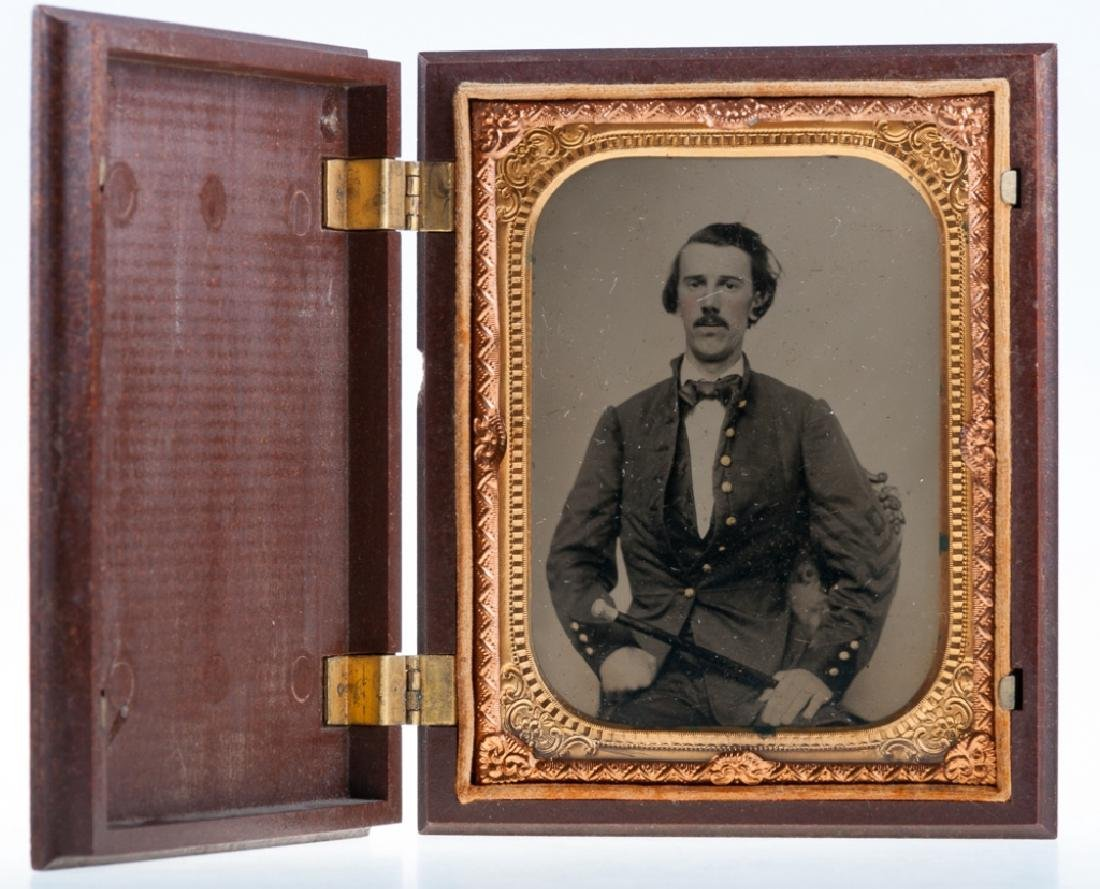 Tintype Portrait C 1850s, Gullat Barnes Ancestry