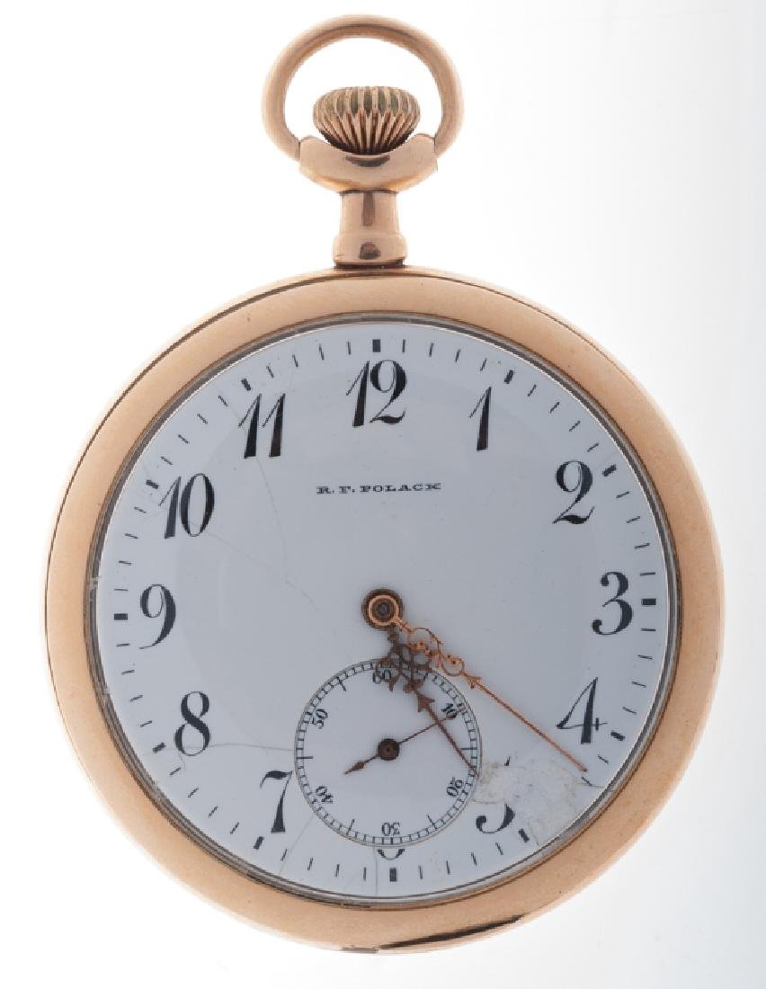 R.F. Polack Gold Plated Pocket Watch