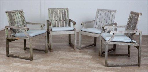 Kingsley Bate Teak Outdoor Nantucket Dining Chairs