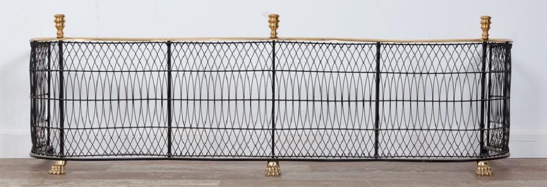 Federal Style Brass and Wire Fireplace Fender