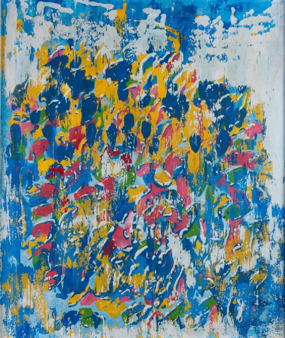 Cy Twombly Abstract Oil On Canvas