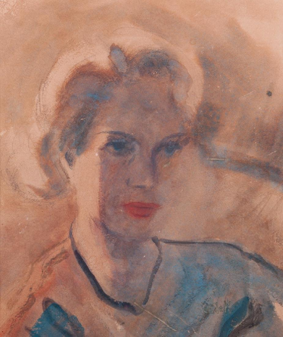 """Elaine de Kooning  Attributed """"Portrait of a Lady"""""""