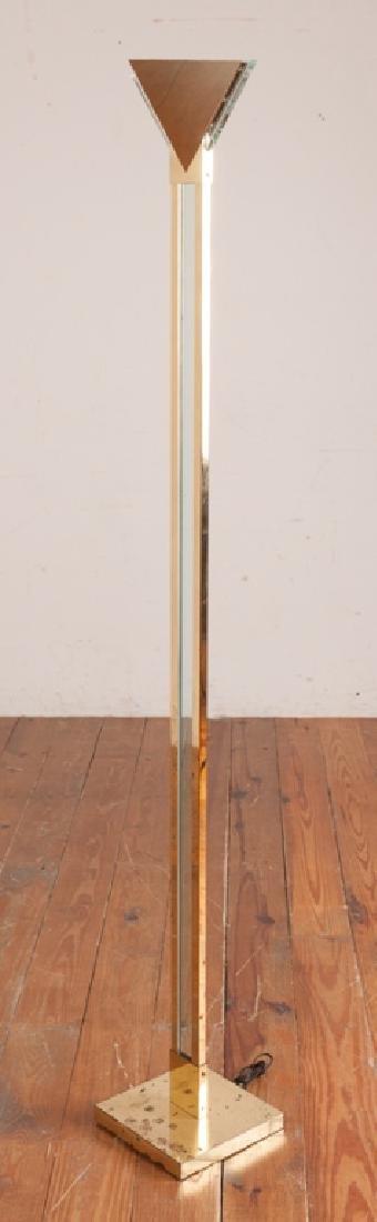Sonnenman / Kovacs Brass & Lucite Torchiere Lamp