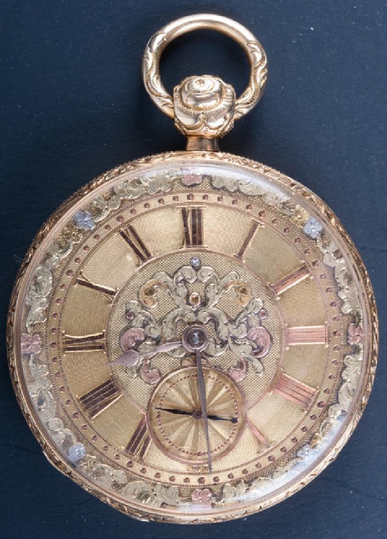English 18K Gold Pocket Watch, Circa 1800s