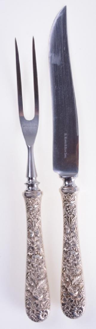S. Kirk & Son Repousse Sterling Carving Set