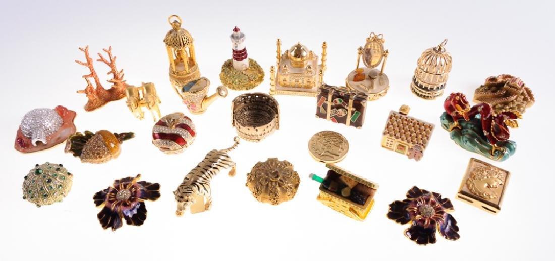 Figural Perfume Boxes Group of Twenty-Four (24)