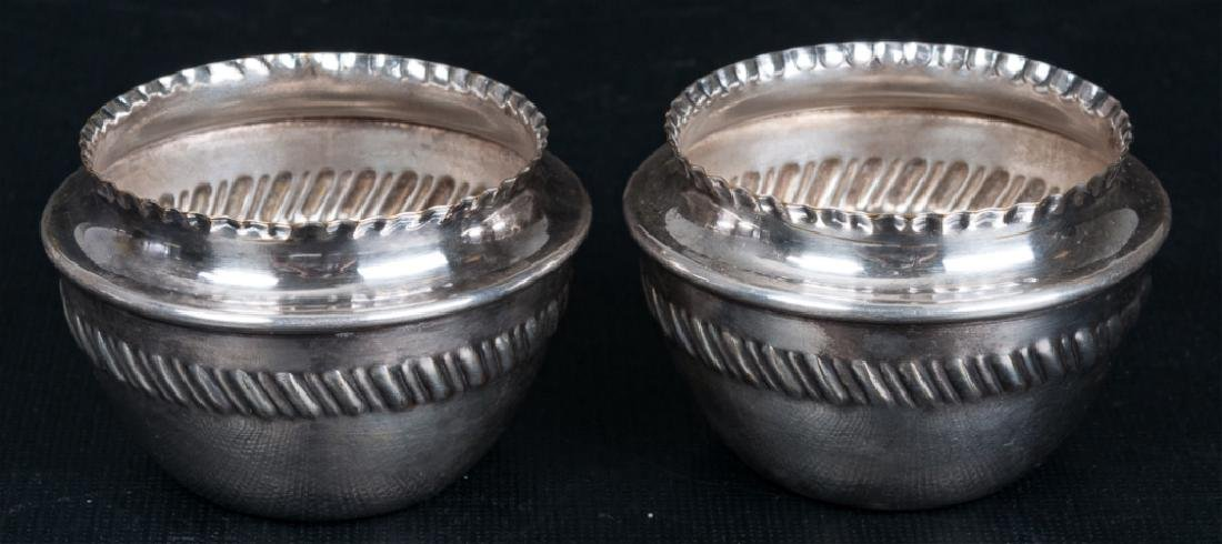 Sterling Silver Open Salts Pair, Circa 1800s